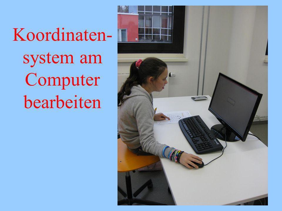 Koordinaten- system am Computer bearbeiten
