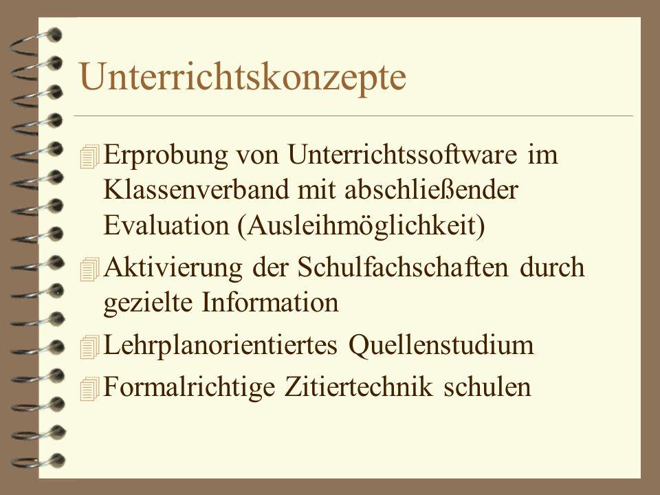 Unterrichtskonzepte (2) 4 Anlassbezogene Recherche (z.