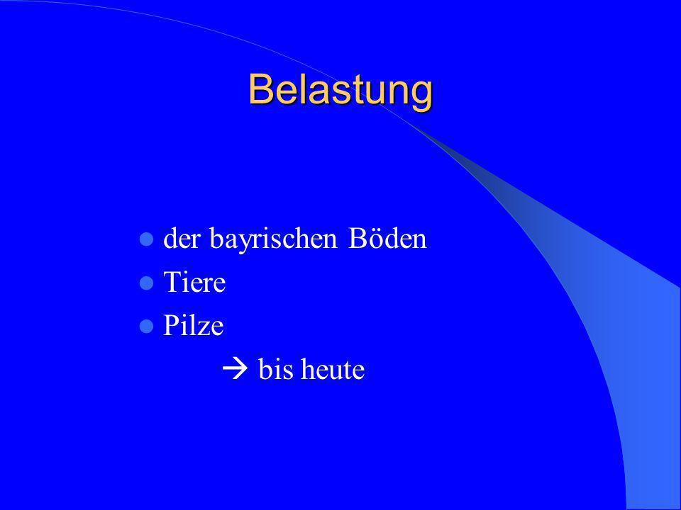 Belastung der bayrischen Böden Tiere Pilze bis heute