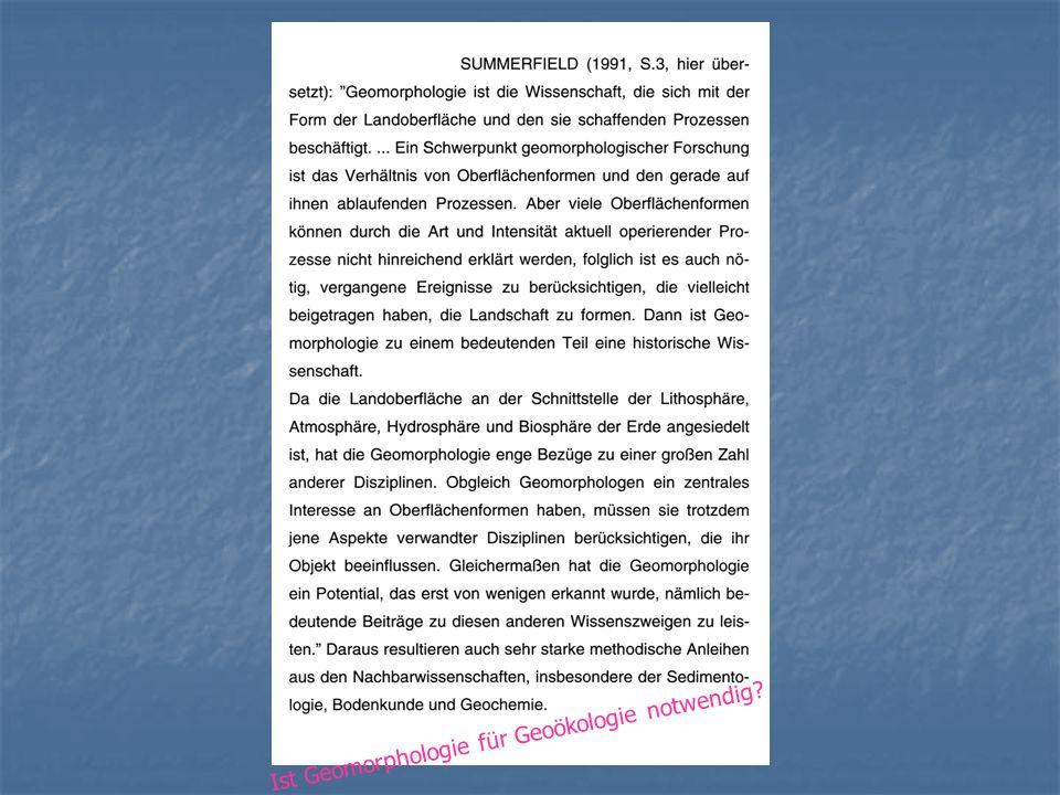 Was macht die Geomorphologie in Bayreuth.