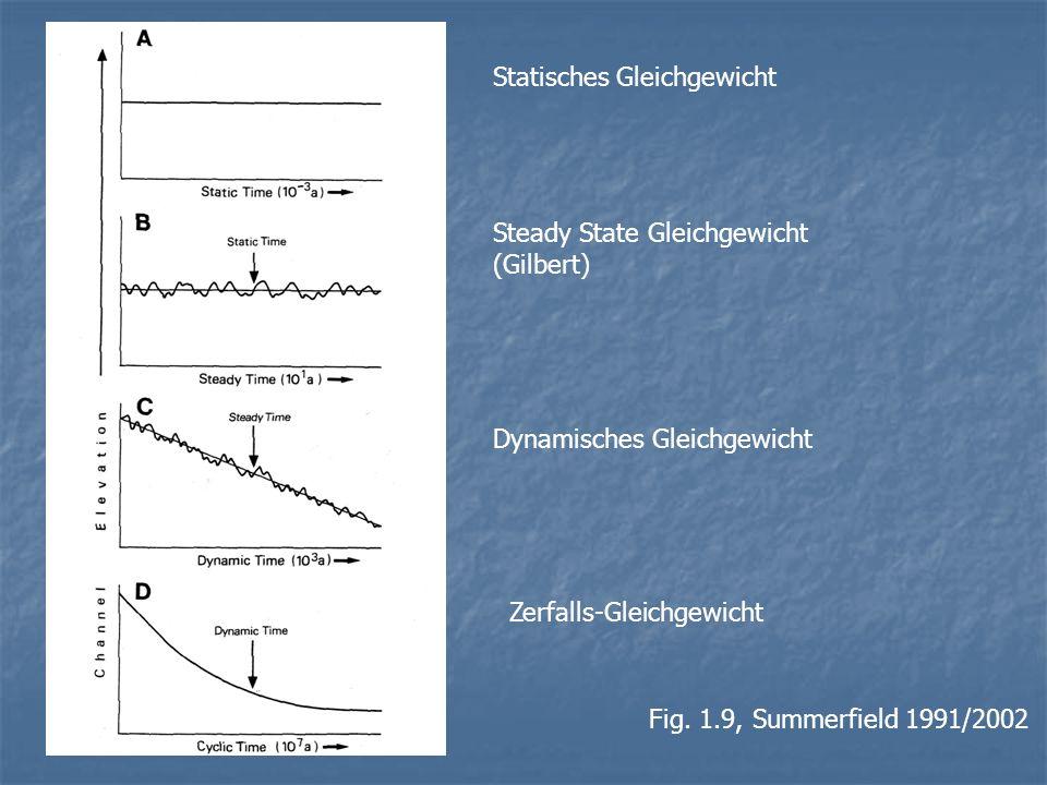 Fig. 1.9, Summerfield 1991/2002 Statisches Gleichgewicht Steady State Gleichgewicht (Gilbert) Dynamisches Gleichgewicht Zerfalls-Gleichgewicht