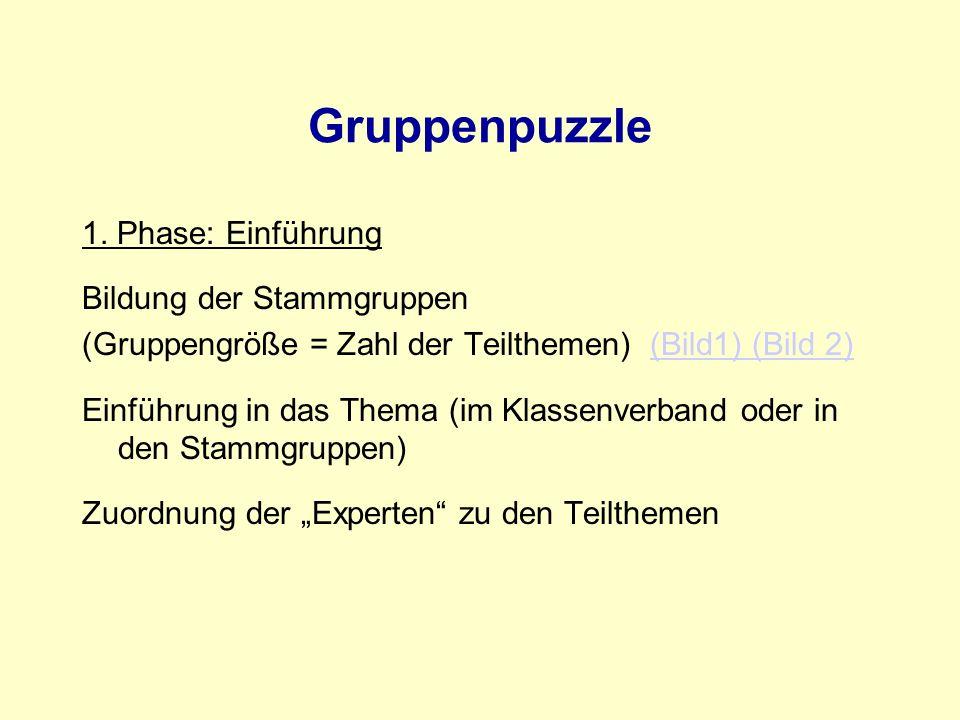 Gruppenpuzzle 1.