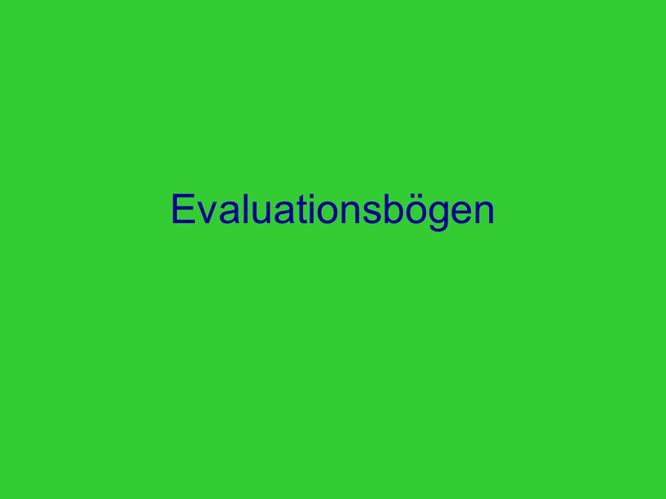 Evaluationsbögen