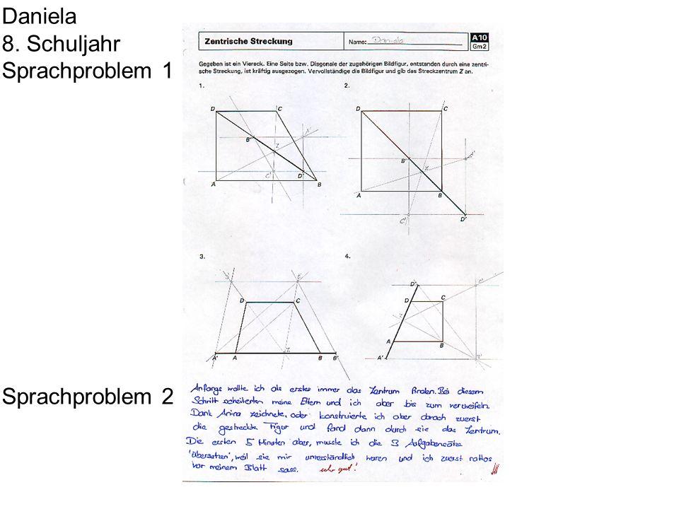 Daniela 8. Schuljahr Sprachproblem 1 Sprachproblem 2