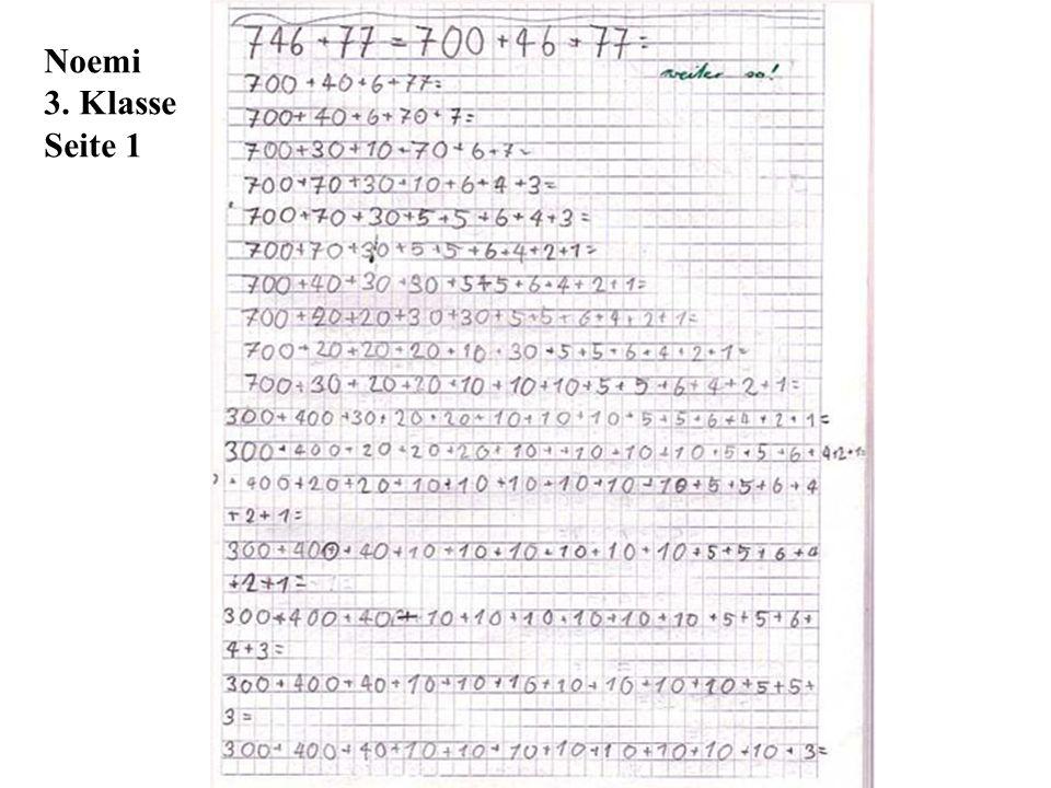 Noemi 3. Klasse Seite 1