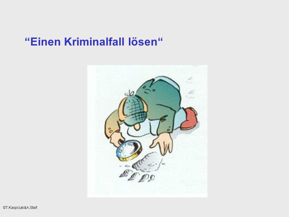 Einen Kriminalfall lösen ©T.Kasprzak&A.Steif