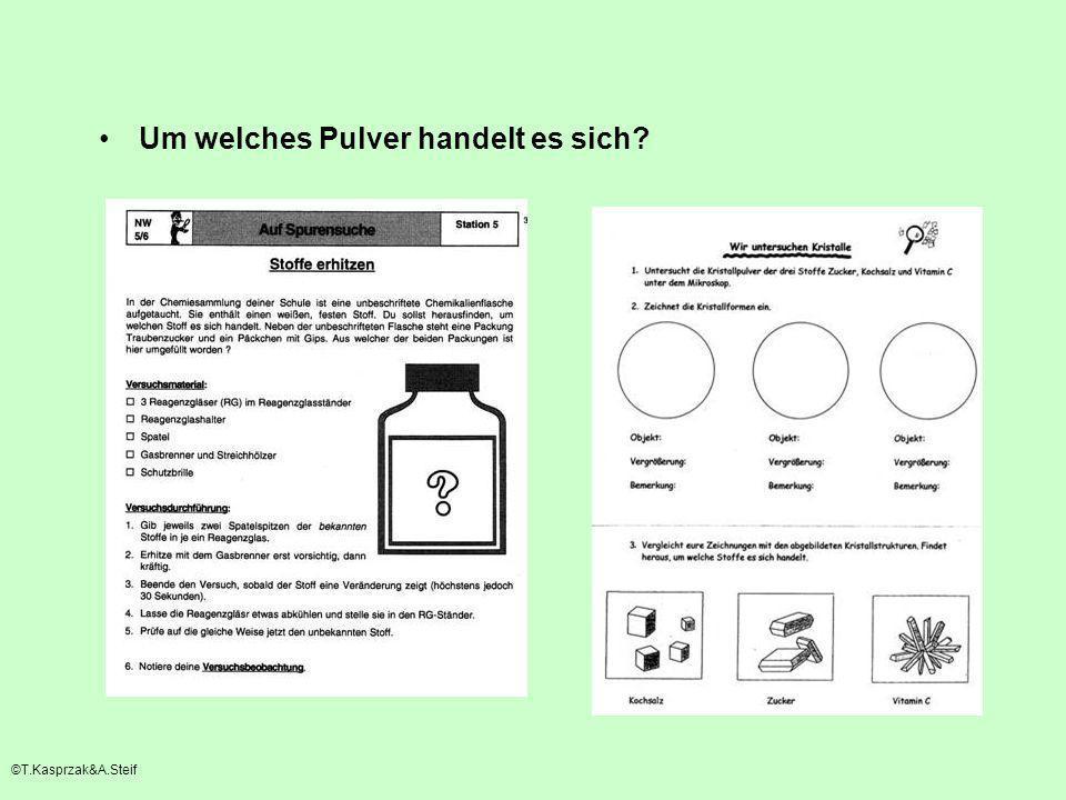 Um welches Pulver handelt es sich? ©T.Kasprzak&A.Steif