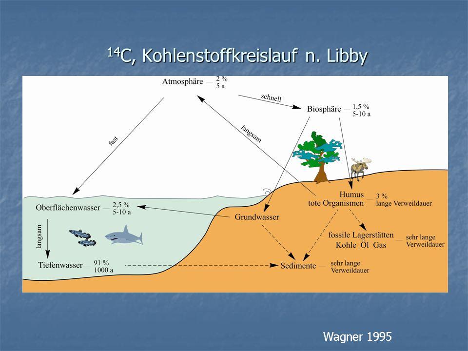 14 C, Kohlenstoffkreislauf n. Libby 14 C, Kohlenstoffkreislauf n. Libby Wagner 1995