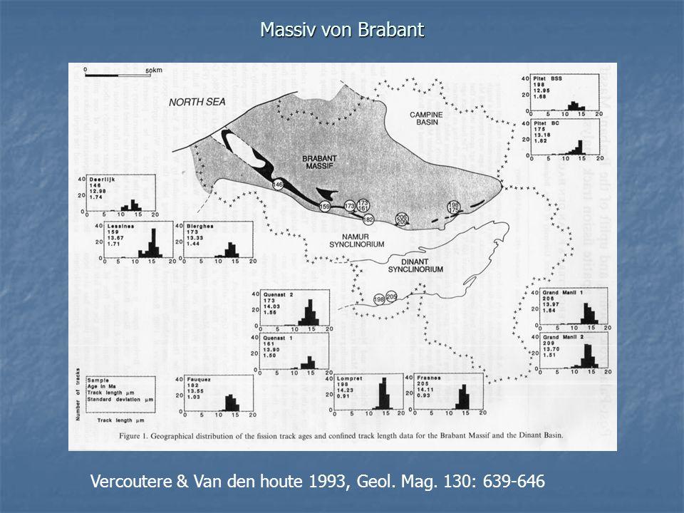 Massiv von Brabant Vercoutere & Van den houte 1993, Geol. Mag. 130: 639-646
