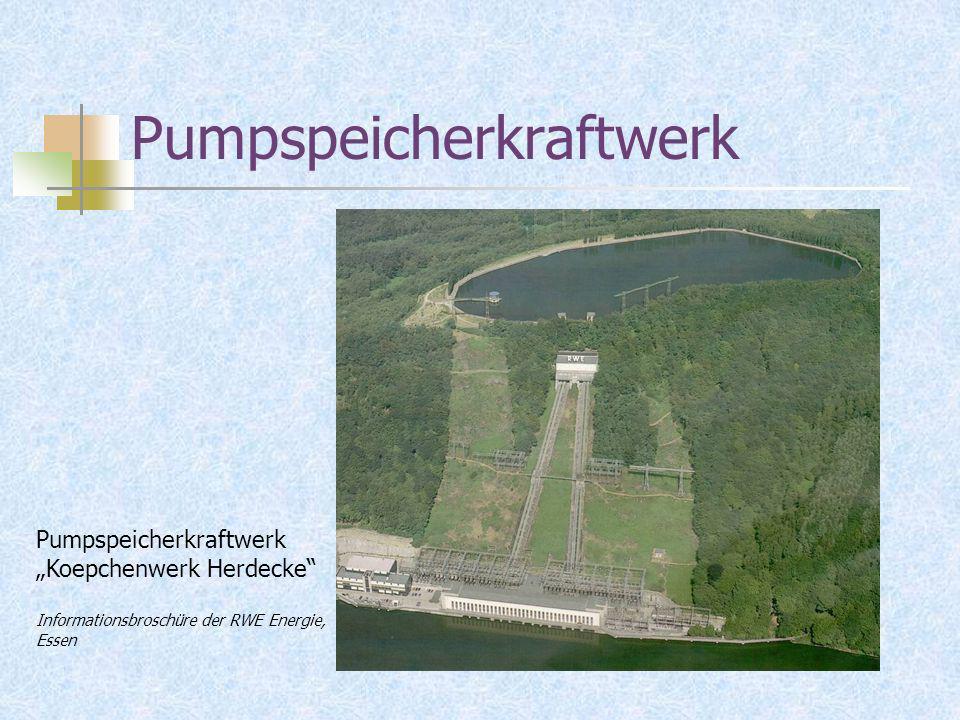 Pumpspeicherkraftwerk Pumpspeicherkraftwerk Koepchenwerk Herdecke Informationsbroschüre der RWE Energie, Essen