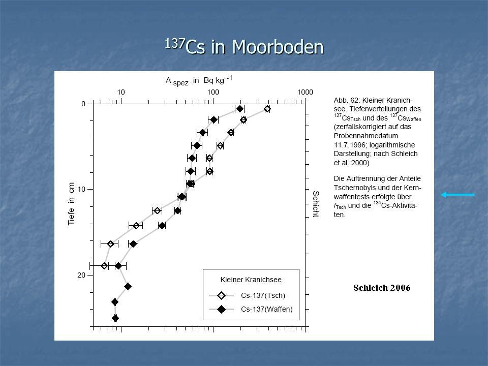 137 Cs in Moorboden