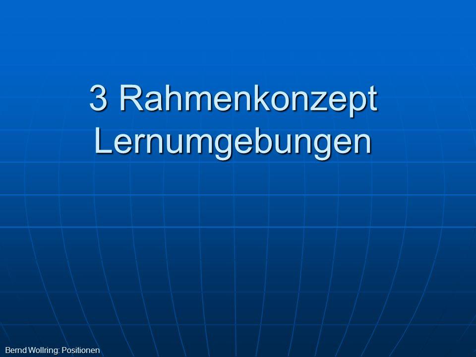 3 Rahmenkonzept Lernumgebungen Bernd Wollring: Positionen