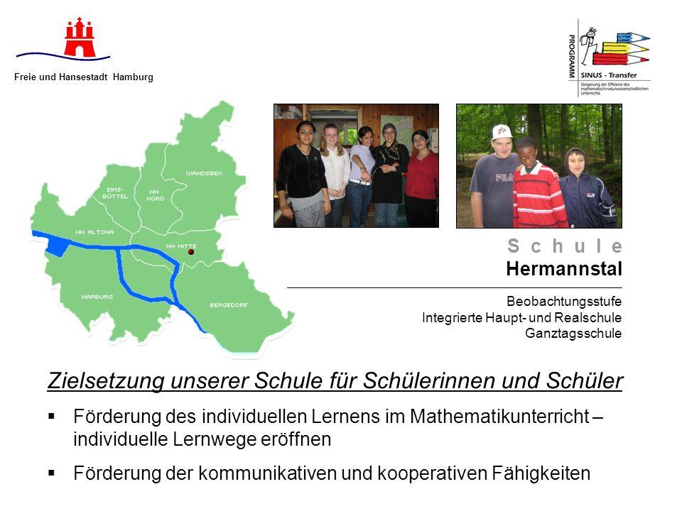S c h u l e Hermannstal Beobachtungsstufe Integrierte Haupt- und Realschule Ganztagsschule Zielsetzung unserer Schule für Schülerinnen und Schüler För