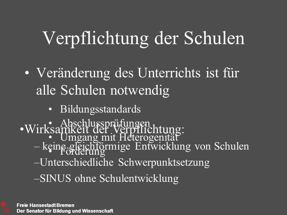 Freie Hansestadt Bremen Der Senator für Bildung und Wissenschaft Freie Hansestadt Bremen Der Senator für Bildung und Wissenschaft Verpflichtung der Sc