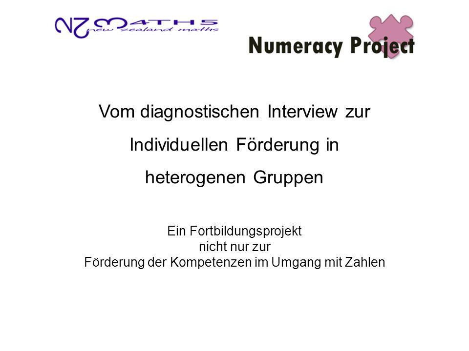 Vom diagnostischen Interview zur Individuellen Förderung in heterogenen Gruppen Ein Fortbildungsprojekt nicht nur zur Förderung der Kompetenzen im Umgang mit Zahlen