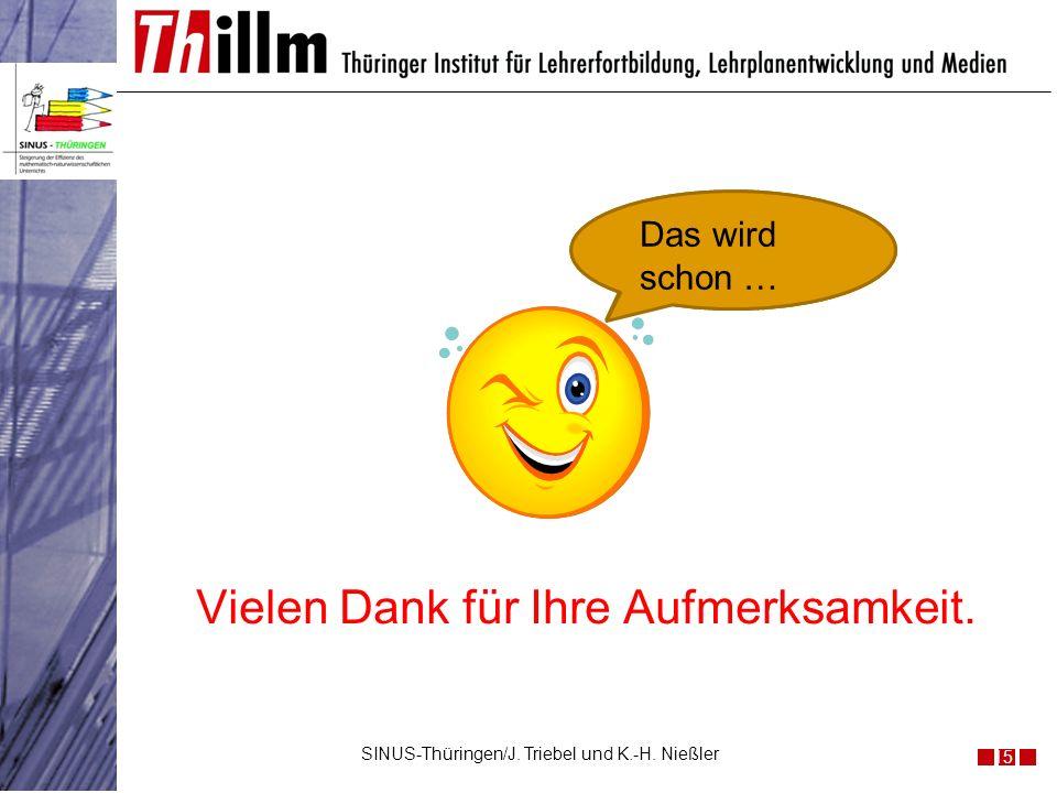 Was du kennst SINUS nicht?? Das wird schon … Vielen Dank für Ihre Aufmerksamkeit. SINUS-Thüringen/J. Triebel und K.-H. Nießler 15