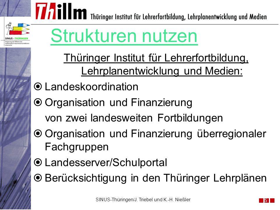 Thüringer Institut für Lehrerfortbildung, Lehrplanentwicklung und Medien: Landeskoordination Organisation und Finanzierung von zwei landesweiten Fortb