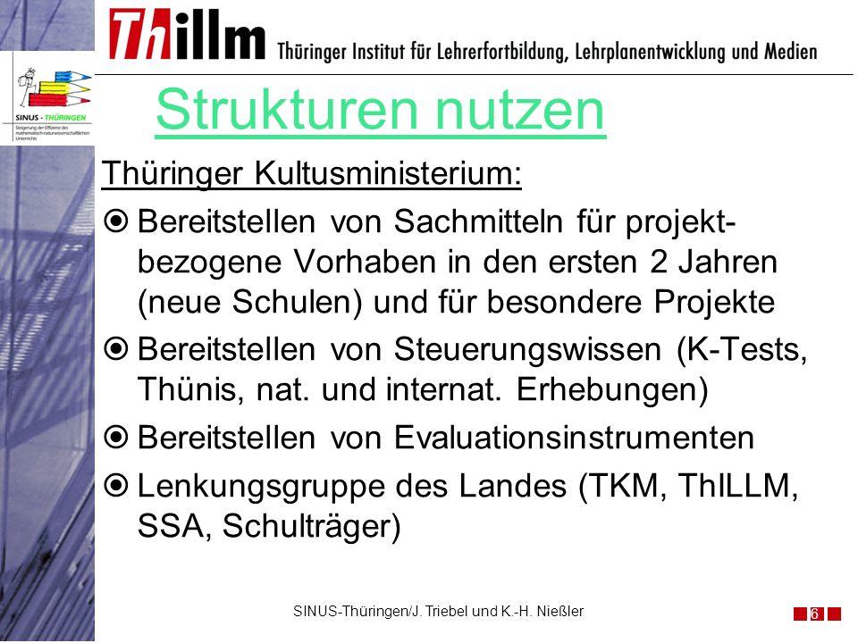 Thüringer Kultusministerium: Bereitstellen von Sachmitteln für projekt- bezogene Vorhaben in den ersten 2 Jahren (neue Schulen) und für besondere Proj