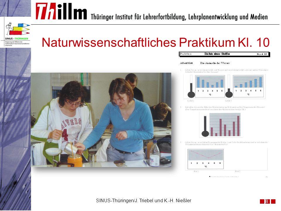Naturwissenschaftliches Praktikum Kl. 10 8 SINUS-Thüringen/J. Triebel und K.-H. Nießler