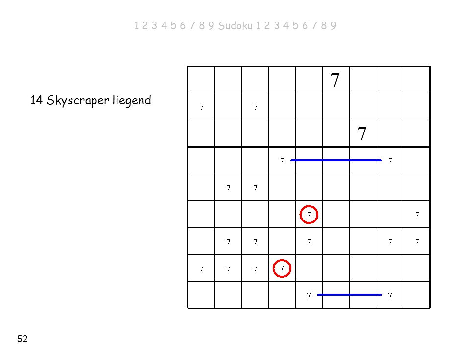 52 14 Skyscraper liegend 1 2 3 4 5 6 7 8 9 Sudoku 1 2 3 4 5 6 7 8 9
