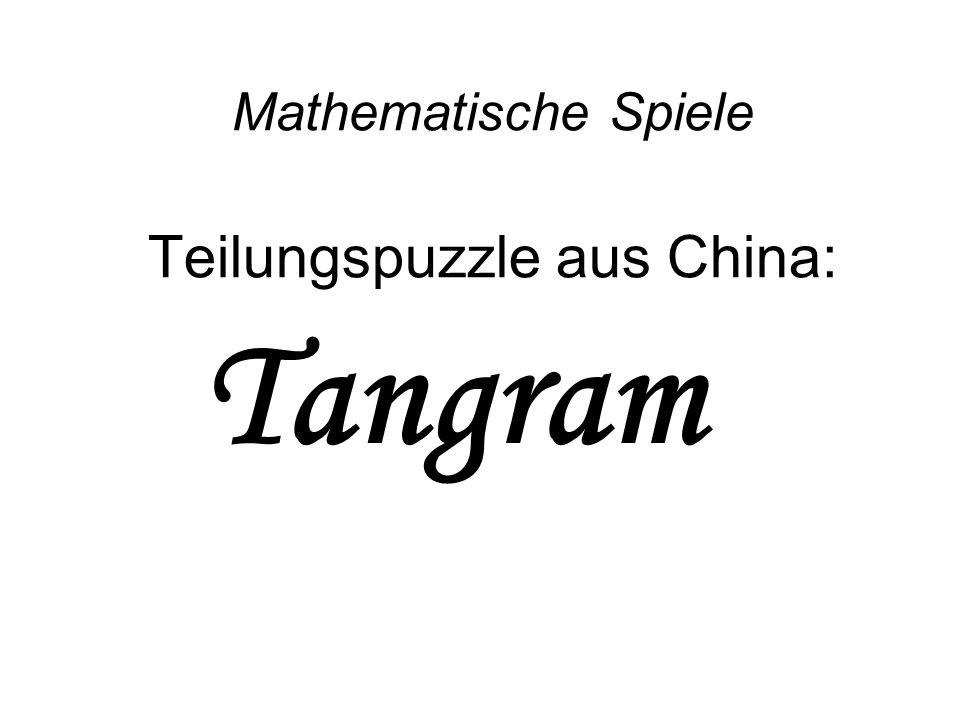 Tangram Mathematische Spiele Teilungspuzzle aus China:
