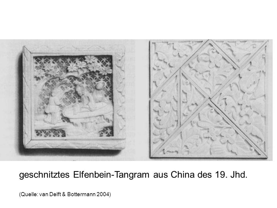 geschnitztes Elfenbein-Tangram aus China des 19. Jhd. (Quelle: van Delft & Bottermann 2004)