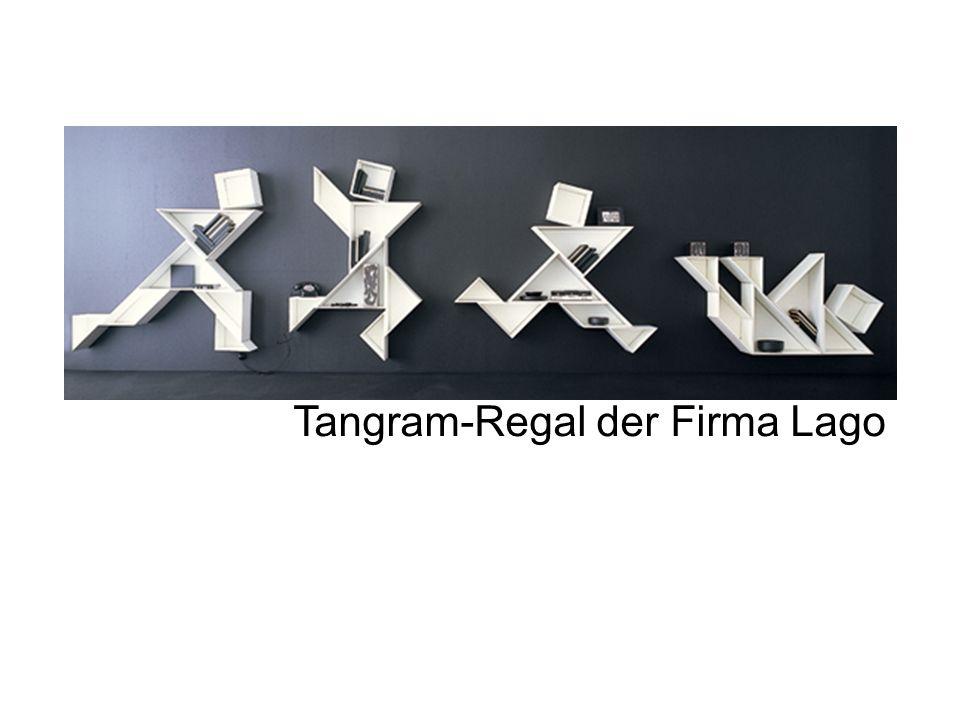 Tangram-Regal der Firma Lago