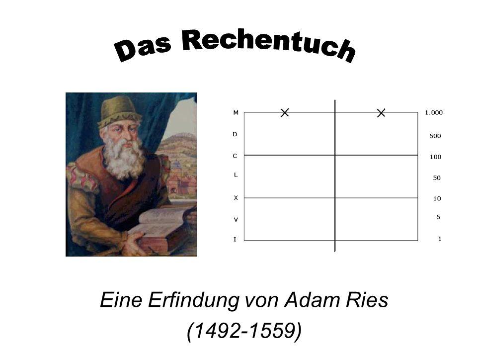 Eine Erfindung von Adam Ries (1492-1559)