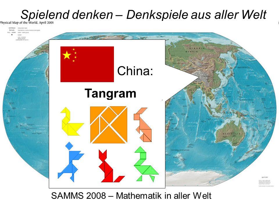 SAMMS 2008 – Mathematik in aller Welt Spielend denken – Denkspiele aus aller Welt Dänemark: Der Somawürfel
