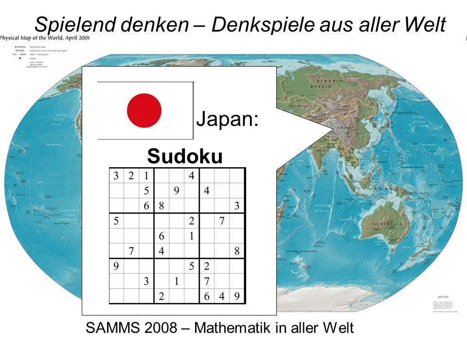 SAMMS 2008 – Mathematik in aller Welt Spielend denken – Denkspiele aus aller Welt China: Tangram