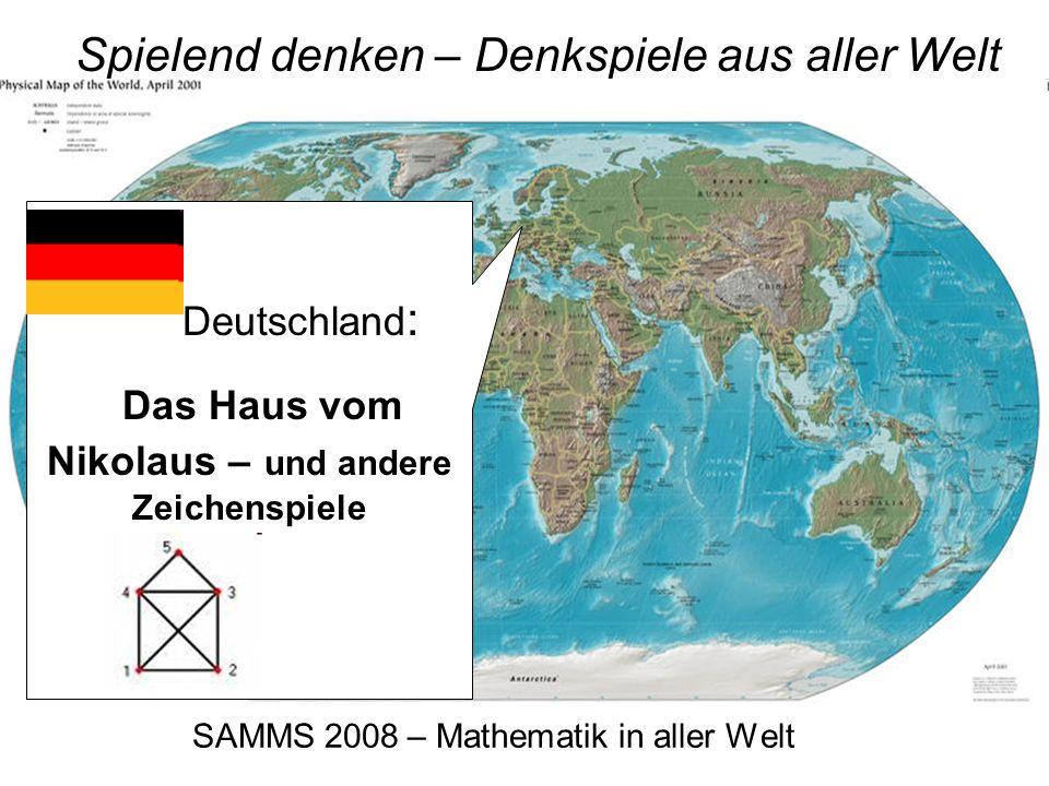 SAMMS 2008 – Mathematik in aller Welt Spielend denken – Denkspiele aus aller Welt Afrika: Kalaha