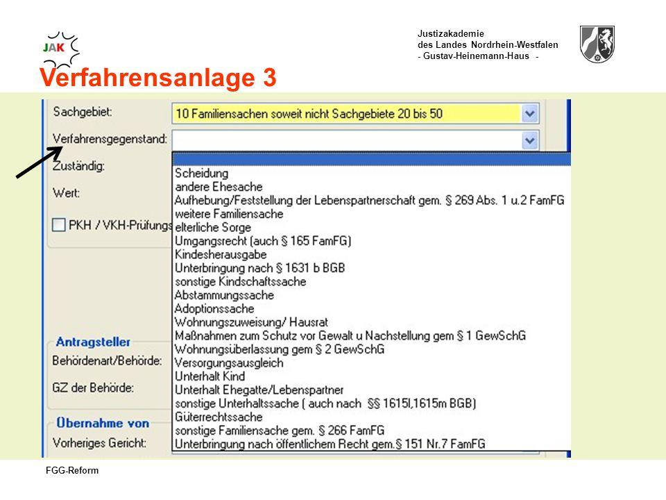 Justizakademie des Landes Nordrhein-Westfalen - Gustav-Heinemann-Haus - FGG-Reform Verfahrensanlage 3
