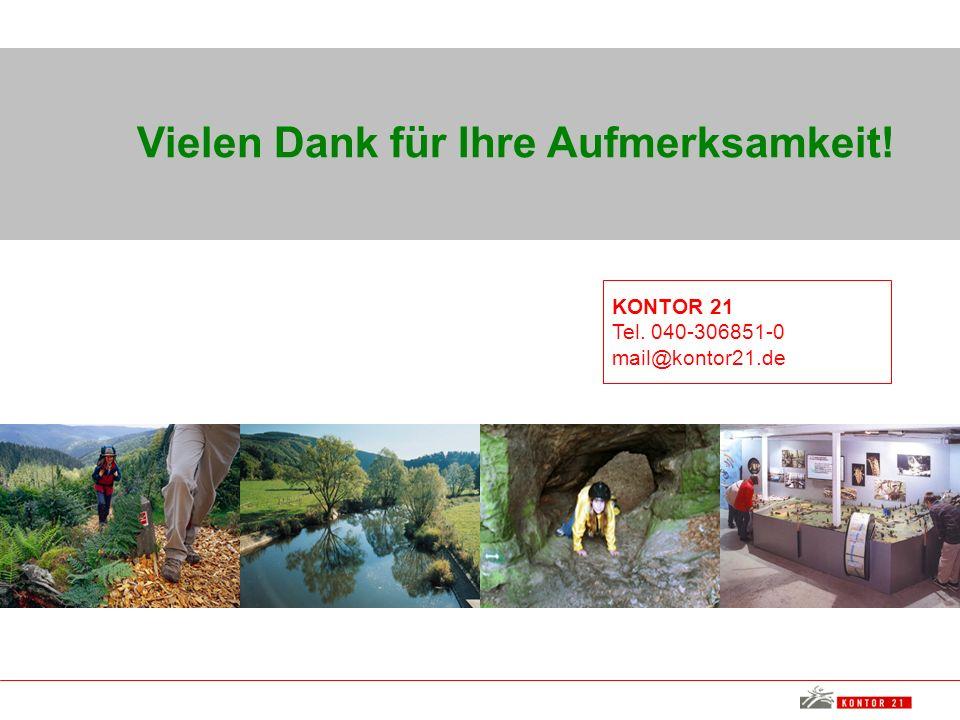 Vielen Dank für Ihre Aufmerksamkeit! KONTOR 21 Tel. 040-306851-0 mail@kontor21.de