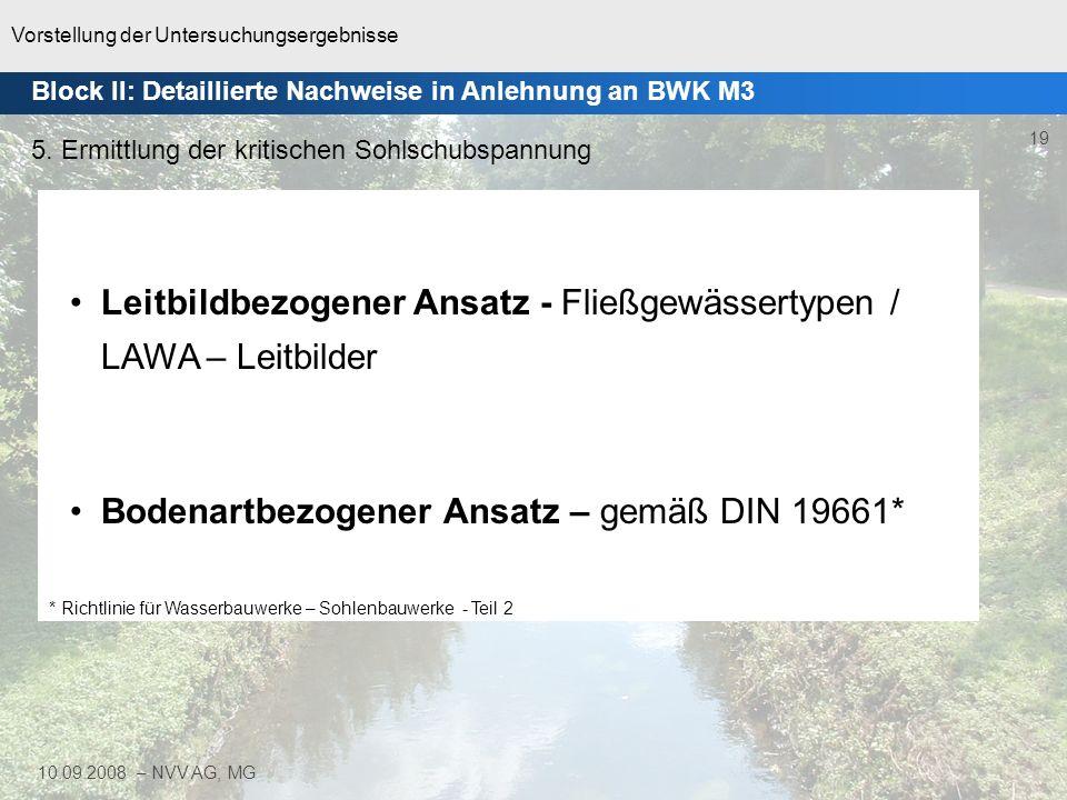 Vorstellung der Untersuchungsergebnisse 20 10.09.2008 – NVV AG, MG 5.