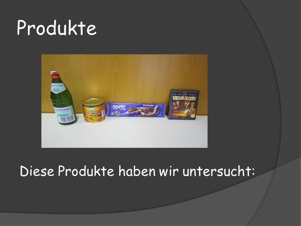 Produkte Diese Produkte haben wir untersucht: