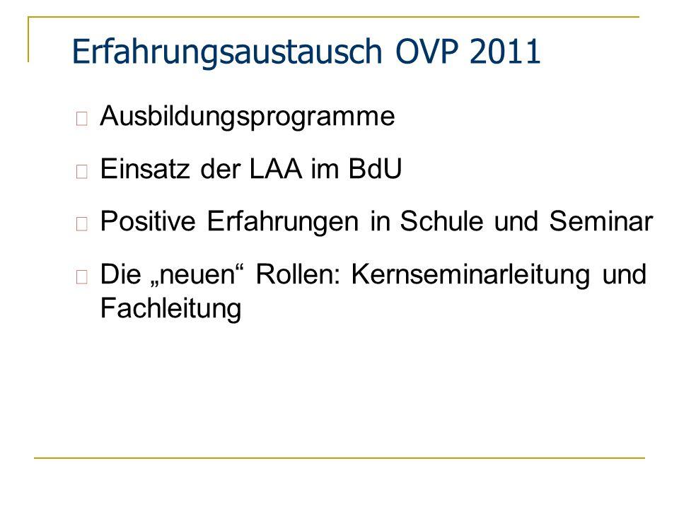 Merkpunkte zur Prüfung nach OVP 2011 Langzeitbeurteilungen Prüfung Beurteilung Schule (25%) Beurteilung ZfsL (25%) Schriftl.