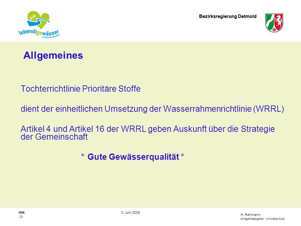 H.Rehmann Anlagenbezogener Umweltschutz Bezirksregierung Detmold IHK -4- 3.