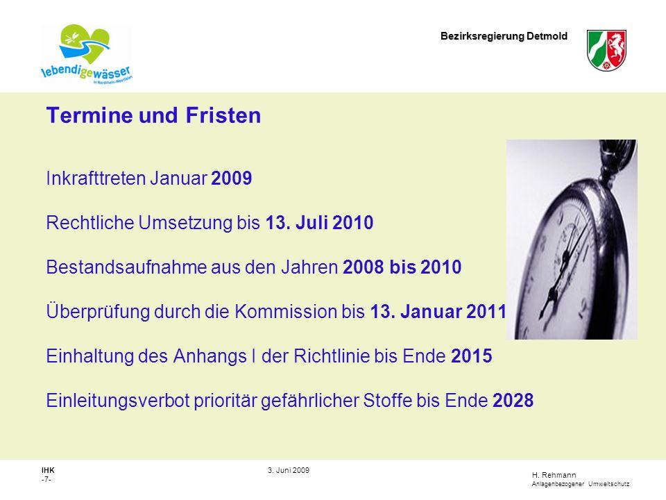 H.Rehmann Anlagenbezogener Umweltschutz Bezirksregierung Detmold IHK -8- 3.