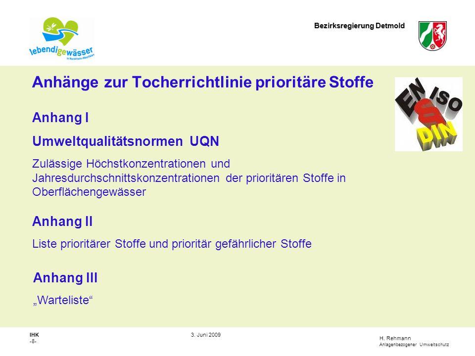 H.Rehmann Anlagenbezogener Umweltschutz Bezirksregierung Detmold IHK -9- 3.