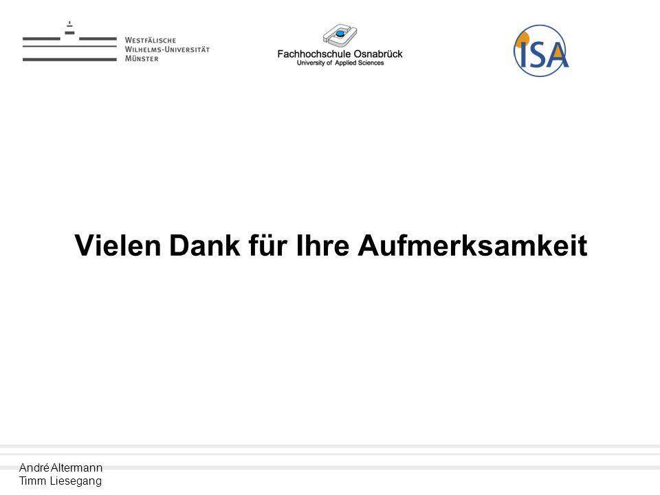 André Altermann Timm Liesegang Vielen Dank für Ihre Aufmerksamkeit