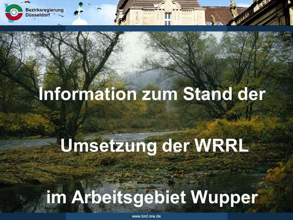 www.brd.nrw.de 2Seite 09.06.2010 Flussgebietsmanagement /Gebietsforum Wupper Bewirtschaftungsplan und Maßnahmenprogramm Der BW-Plan und das MaPro beschreiben den Umsetzungs- prozess der WRRL in NRW.