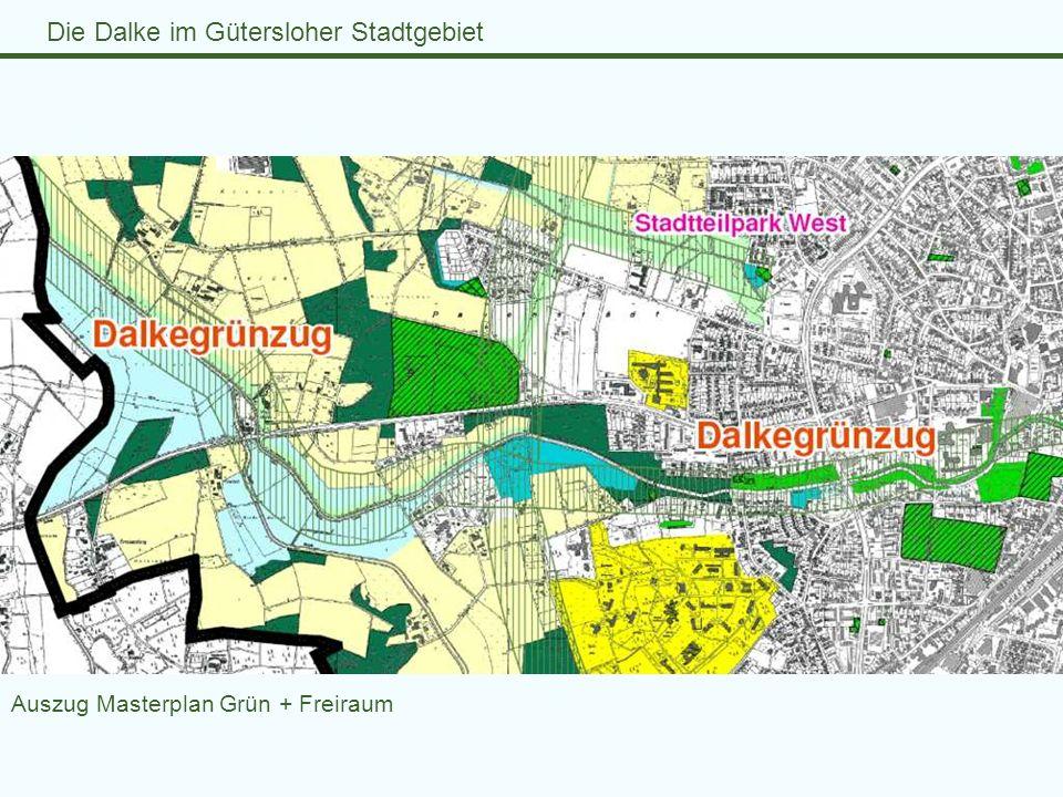 Auszug Masterplan Grün + Freiraum