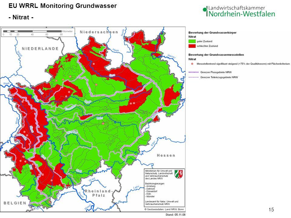 15 EU WRRL Monitoring Grundwasser - Nitrat -