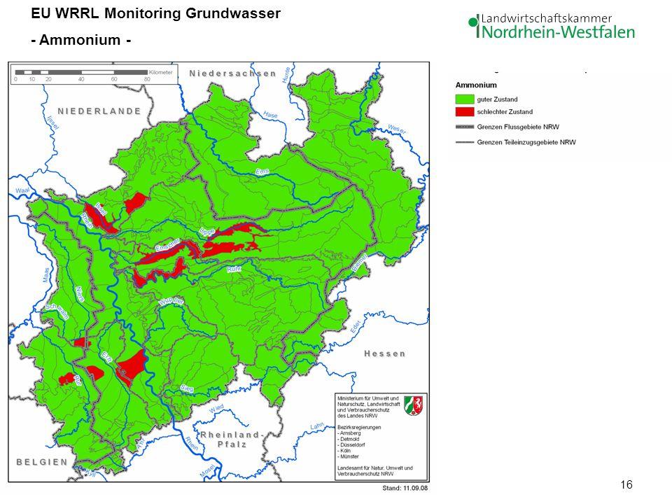 16 EU WRRL Monitoring Grundwasser - Ammonium -