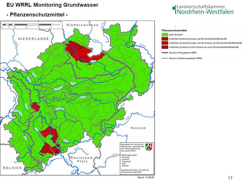 17 EU WRRL Monitoring Grundwasser - Pflanzenschutzmittel -