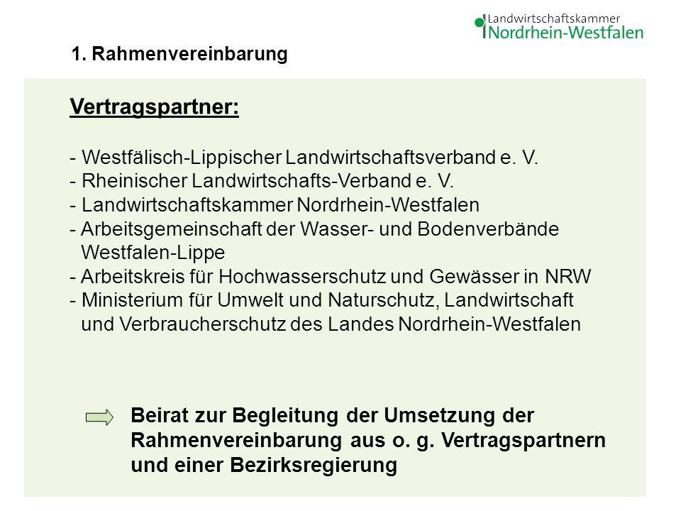 4 Vertragspartner: - Westfälisch-Lippischer Landwirtschaftsverband e. V. - Rheinischer Landwirtschafts-Verband e. V. - Landwirtschaftskammer Nordrhein