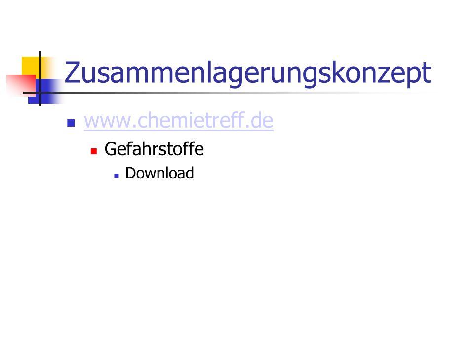 Zusammenlagerungskonzept www.chemietreff.de Gefahrstoffe Download