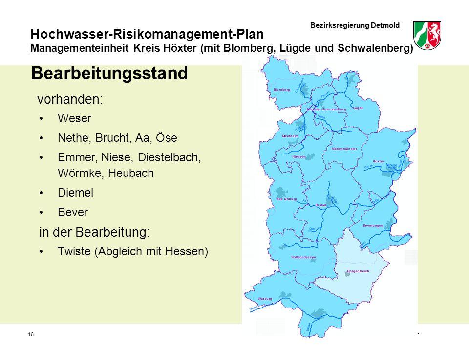 Bezirksregierung Detmold Hochwasser-Risikomanagement-Plan Managementeinheit Kreis Höxter (mit Blomberg, Lügde und Schwalenberg) 16Jürgen Böddeker Bear