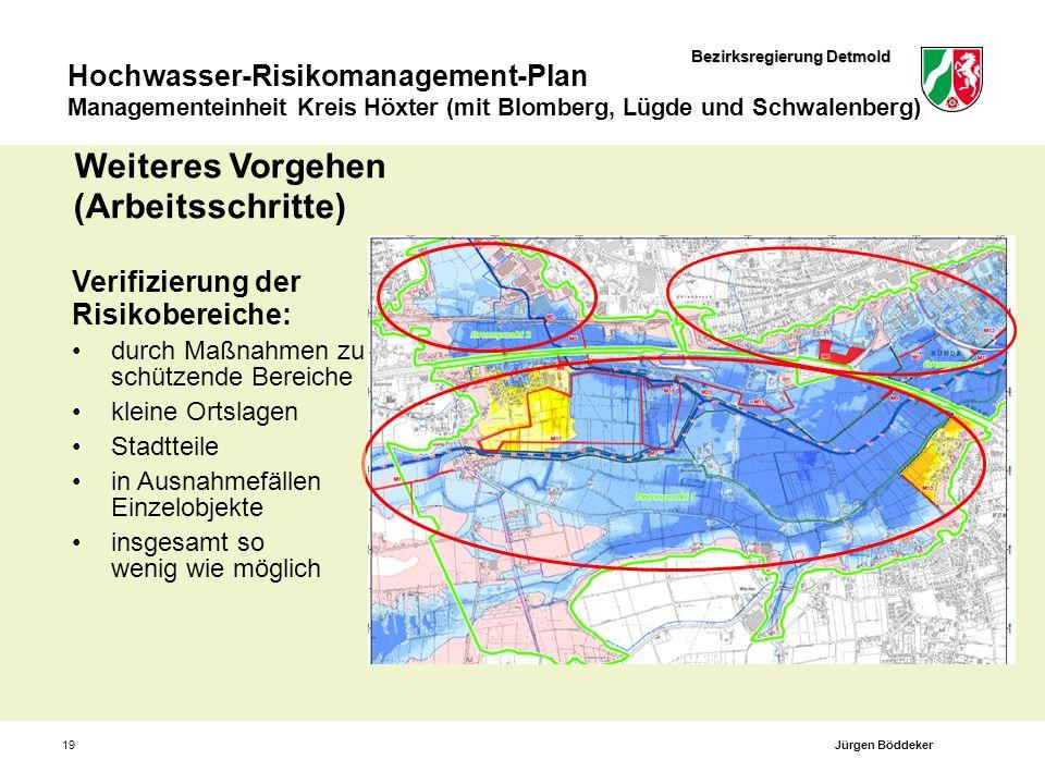 Bezirksregierung Detmold Hochwasser-Risikomanagement-Plan Managementeinheit Kreis Höxter (mit Blomberg, Lügde und Schwalenberg) 19 Verifizierung der R
