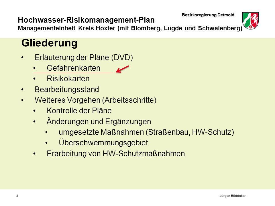 Bezirksregierung Detmold Hochwasser-Risikomanagement-Plan Managementeinheit Kreis Höxter (mit Blomberg, Lügde und Schwalenberg) 3 Gliederung Erläuteru